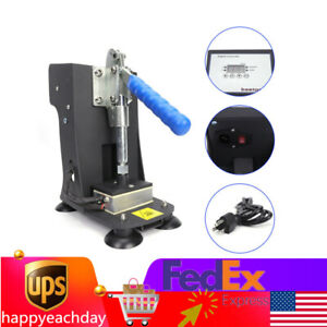 Manual Rosin Hot Stamping Machine Double Heating Plate 2 x3 Lcd Touch Type Sale