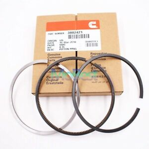 Set 6 Standard Piston Rings For 89 98 Dodge Ram 5 9l 12v Cummins 3802421 Std