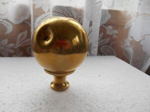 Victorian Edwardian Salvaged Reclaimed 2 3 4 Brass Bed Knob Finial