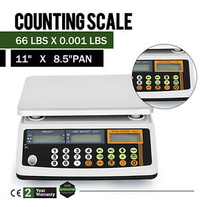 Electronic Price Computing Scale Lcd Digital Commercial Food Meat Count 66 Lbs
