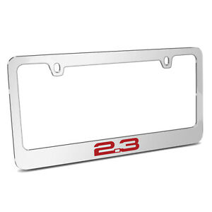 Ford Mustang 2 3l Ecoboost In Red Chrome Metal License Plate Frame