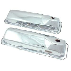 Spectre Valve Covers Stock Height Steel Chrome Plain Ford 351c 351m 400 Pair