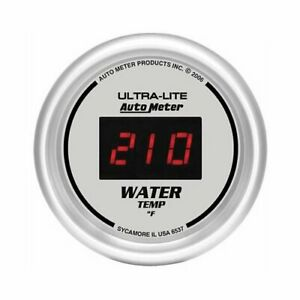Autometer Ultra lite Digital Series Gauge Water Temperature 2 1 16 Dia 6537