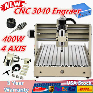 Cnc 3040 4axis Router Engraver Engraving Machine Wood Milling Drilling 3d Cutter