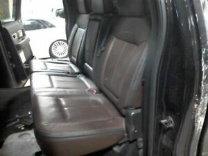 2012 Ford F150 Driver Rear Seat 60 Black Brown Leather 9b Crew 000 1555005