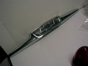 1958 Chevrolet Truck Chrome Hood Trim Hood Emblem Nice Shape Fb19