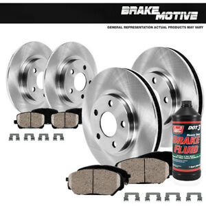 Front rear Brake Rotors Ceramic Pads Complete Kit For 2015 2016 2017 Kia Sorento