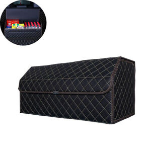 Foldable Car Trunk Organizers Storage Cover Leather Waterproof For Car Suv Truck