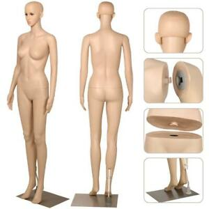 Female Plastic Dress Form Mannequin Full Body Metal Base 68 9 Inch Durable 360