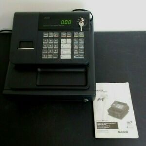 Casio Pcr 272 Cash Register W Key And Manual Works Well Rarely Used Black