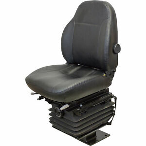 K M 6840 Case 580 Series Fold down Backhoe Seat Vinyl With No Arms black