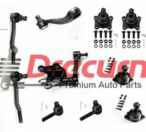 10pcs Upper Lower Ball Joint Tie Rod Idler Arm Pitman Arm Kit For Toyota 4wd