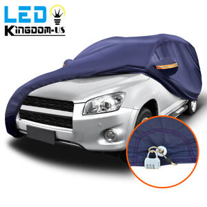 Full Suv Car Cover Blue Waterproof Breathable Sun Uv Rain Dust Resistant W lock