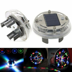 12 Led Rgb 4 Mode Car Auto Solar Energy Flash Wheel Tire Lights Lamp Decoration