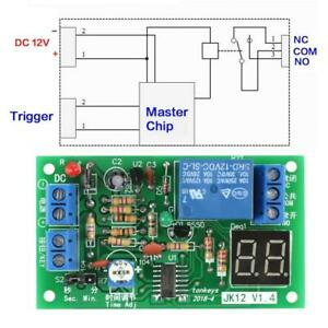 Dc 12v Led Led Display Countdown Delay Timing Timer Turn Off Relay Switch Module