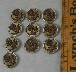 Sewing Button Victorian Picture 3 4 Lot 10 Matching Antique Original