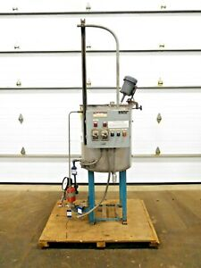 Mo 3042 Stainless 50 Gallon Chemical Mixing Tank 304 Ss 1 4 Hp 115 V 1 Ph