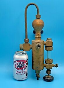 1 2 Pint Old Steam Engine Oiler Lubricator Brass Detroit Lubricator Company