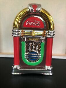 Coca-Cola Rock'n Roll JukeBox Shaped Cookie Jar 2002 Gibson