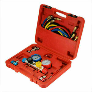 Refrigeration Air Conditioning Manifold Gauge Set Maintenance Tools R134a W hose