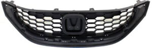 Cpp Black Grill Assembly For 2013 2014 Honda Civic Grille