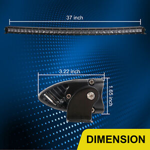 42 Inch 210w Slim Curved Led Light Bar Single Row Spot Offroad Suv Tractor 240w