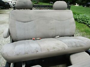 Gently Used clean 1996 04 Gmc safari Bench Seat W belts Tan brown Clean 2nd