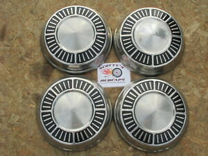 1965 1966 Plymouth Fury Poverty Dog Dish Hubcaps Set Of 4
