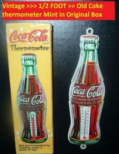 Vintage Coca Cola Soda Pop Old Coke Thermometer Sign Mint n Box Advertising