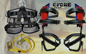 Tree Climbing Set Pole Spurs Climber Tree And Pole Graff Pro Harness Lanyard