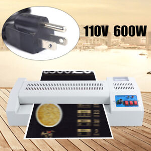 600w 4 Rollers System Laminating Laminator Machine Metal abs Heavy Duty 110v Us