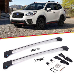 Roof Rack Top Cross Bar Rail Pair chrome Aluminum For 2014 2018 Subaru Forester