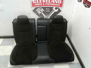 2015 2018 Dodge Challenger R T Scat Pack Oem Black Leather Suede Rear Seat Seats