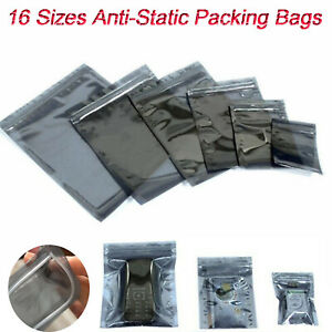 Anti static Esd Shielding Bags Translucent Ziplock Resealable Hard Drive Storage