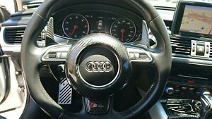 Fits Audi A6 A7 A8 S6 S7 S8 Late Models Carbon Fiber Steering Wheel Center Cover