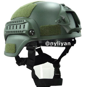 Military Mich2000 Outdoor Airsoft Military Tactical Combat Riding Helmet Green