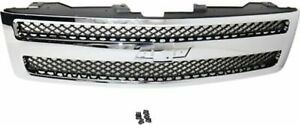 Chrome Grill Assembly For 2007 2013 Chevrolet Silverado 1500 Grille Gm1200572n