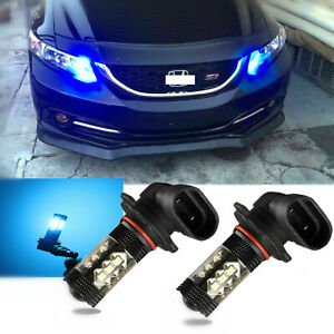 Ice Blue Projector Lens 80w Led Drl Daytime Running Light For Honda Accord Civic