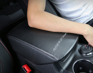 Carbon Fiber Inner Armrest Box Decorative Cover Trim For Ford Explorer 2013 2019