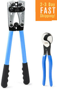 Iwiss Battery Cable Lug Crimping Tools Hand Electrician Pliers Crimping Wire