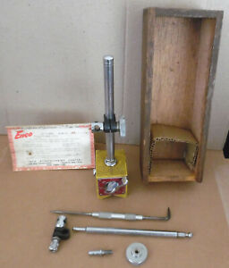 Vintage Enco No 300 On off Magnetic Base Indicator Holder Attachments Machinis