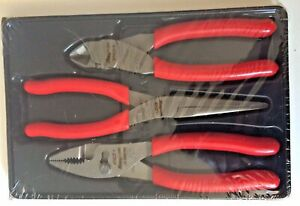 New Snap on 3 Piece Pliers Cutters Set Pl307acf 47acf 97acf 87acf Retail 154