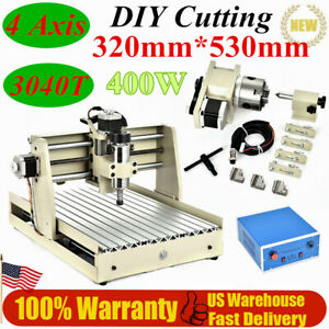 4 Axis Usb Port 3040t Spindle Cnc Router For Wood pcb Mill Drilling Machine Ups