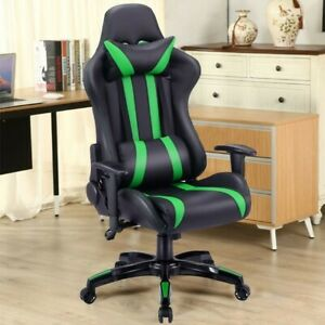 Video Pc Racing Gaming Chair Executive Ergonomic Style High back Leather Seat