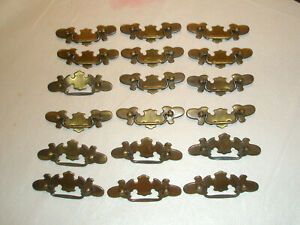 Vintage Lot 18 Chippendale Style Brass Drawer Pulls Fancy 4 1 4 L