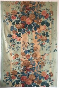 Beautiful 19th C French Printed Floral Cotton Chintz Fabric 2759