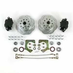Mustang Ii 2 Front Disc Brake Kit 11 Plain Ford Rotors No Spindles Ss Lines