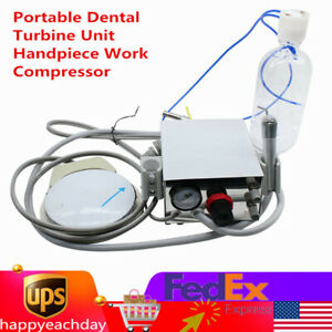 Portable Dental Turbine Unit Handpiece Work Compressor 4h 3 Way Syringe 4 Hole