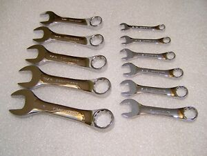11pc Craftsman Usa Stubby Wrench Set High Polish 12pt K 44xxx Series Look Unused
