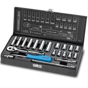 Channellock 34211 Sockets Socket Set Metal Box